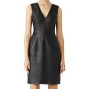BCBG MAXAZRIA LIVIE QUILTED FAUX LEATHER DRESS